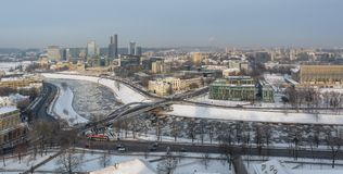 Snöig Vilnius arkivfoton