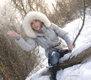 snöig vinter Royaltyfri Bild