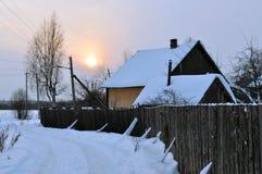 Snöig vinter. arkivfoton