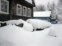 Snöig vinter. royaltyfria foton