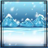 snöig vinter för bakgrundbakgrund Fotografering för Bildbyråer