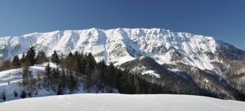 snöig vinter för berg arkivfoton