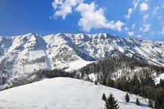 snöig vinter för berg royaltyfri fotografi