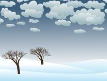 snöig vinter för plats Fotografering för Bildbyråer
