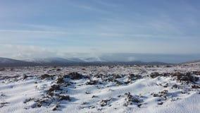Snöig vinter i Irland Arkivbild