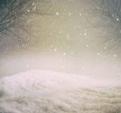 Snöig vinterbakgrund Royaltyfria Bilder