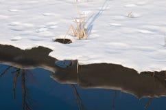 Snöis- och vattenabstrakt begrepp Royaltyfria Bilder