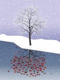 Snölönn vektor illustrationer