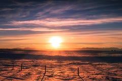 Snölantgård Royaltyfri Bild