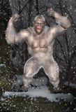 Snöman snöman, mytiskt fä Arkivbild