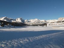 Snön dolda Durmitor Arkivfoton