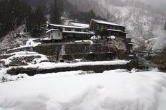 Snönedgång i Japan Arkivbild