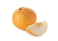Snöpäron eller Fengsui päron på vit Arkivfoton