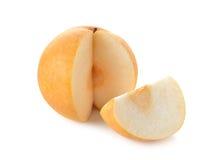 Snöpäron eller Fengsui päron på vit Royaltyfri Foto