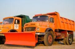 Snöploglastbilar Arkivbilder
