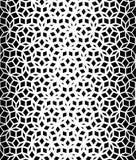 Snör åt den sömlösa svartvita Pentagonstjärnan för vektorn modellen Arkivfoto
