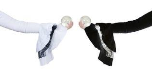snör åt svart crystal gotiskt för boll white Arkivbilder