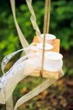 Snöra åt bandrullar på en gunga Royaltyfri Foto