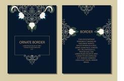 Snöra åt dekoren för födelsedag- och hälsningkortet, bröllopinbjudan, certifikat royaltyfri illustrationer