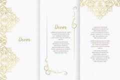 Snöra åt dekoren för födelsedag- och hälsningkortet, bröllopinbjudan, certifikat stock illustrationer