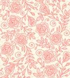 Snöra åt den sömlösa modellen för rosor Royaltyfri Fotografi