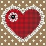Snöra åt hjärta Arkivbild