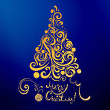 Snöra åt julträdet Arkivfoton