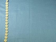 Snöra åt linjen på blå prickbakgrund Royaltyfri Bild