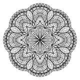 Snöra åt mandalaen, dekorativt svart Royaltyfri Foto