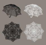 snöra åt paraplyet vektor illustrationer
