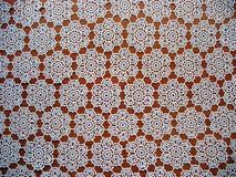 snöra åt tableclothen Royaltyfri Foto