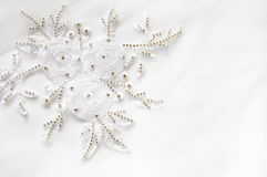 snöra åt textilbröllop arkivbild