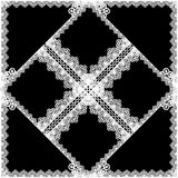 Snöra åt textur Arkivfoto