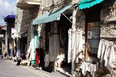 Snöra åt-tillverkare Lefkara, Cypern Arkivbilder