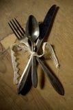 snöra åt utensils för bandsilvertiden Fotografering för Bildbyråer