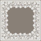 snöra åt white Foursquare ram yellow för modell för hjärta för blommor för fjärilsdroppe blom- stock illustrationer