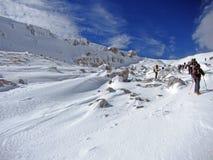 Snöskor i abruzzo Arkivfoton