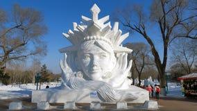Snöskulptur i Kina Royaltyfria Bilder