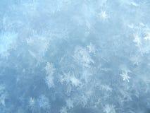 Snöslut, många snöflingor Royaltyfri Fotografi