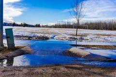 Snösmältning Arkivfoto