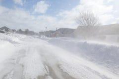 Snöstorm Arkivbilder