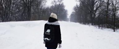 Snöstorm i Konotoai royaltyfri foto
