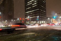 Snöstorm i Toronto Arkivbilder