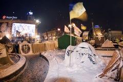Snötält i huvudstaden Fotografering för Bildbyråer