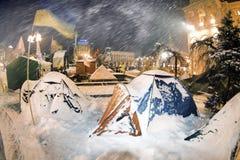 Snötält i huvudstaden Arkivfoton