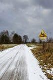 Snöväg, Polen Royaltyfria Bilder