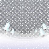 Snövektor för jul som och för nytt år isoleras på mörk bakgrund stock illustrationer