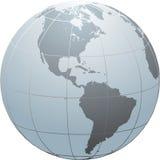sn глобуса америки иллюстрация штока