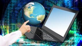 snabb bärbar dator för innovation för global internetteknologi Royaltyfria Bilder