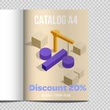 Snabb befordran för illustration för ark för vektorkatalog A4 royaltyfri illustrationer